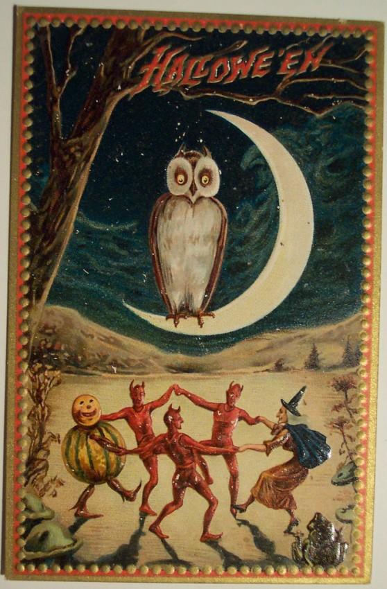 Ilustraciones Halloween antiguas 066