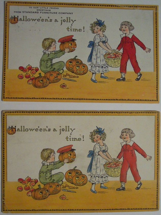 Ilustraciones Halloween antiguas 107