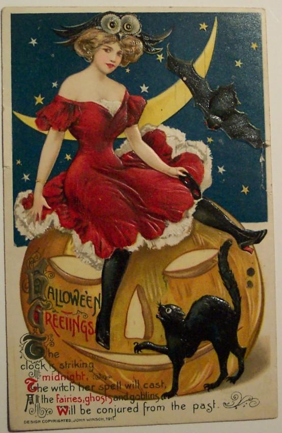 Ilustraciones Halloween retro 048