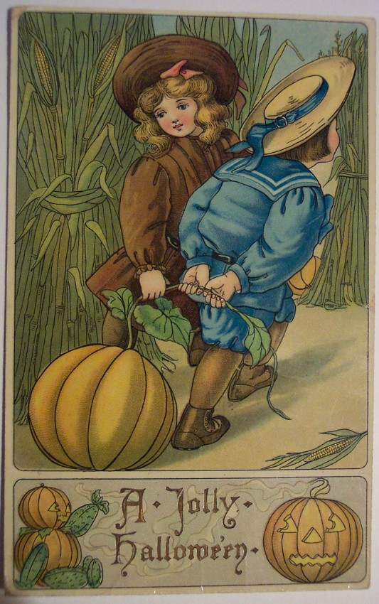 Ilustraciones vintage Halloween 004