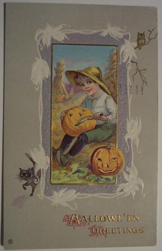 Ilustraciones vintage Halloween 008