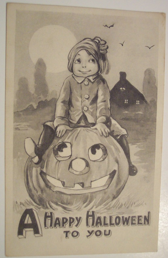Ilustraciones vintage Halloween 013