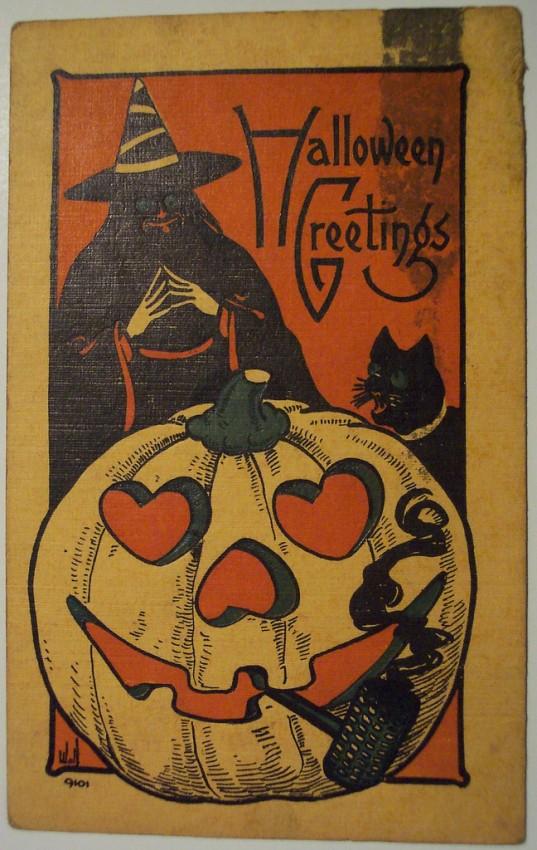 Ilustraciones vintage Halloween 014