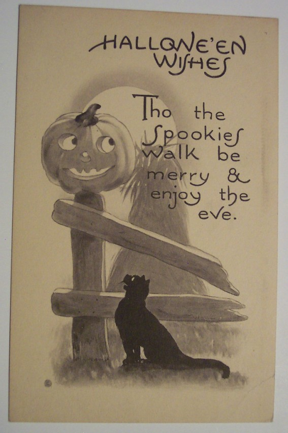 Ilustraciones vintage Halloween 018
