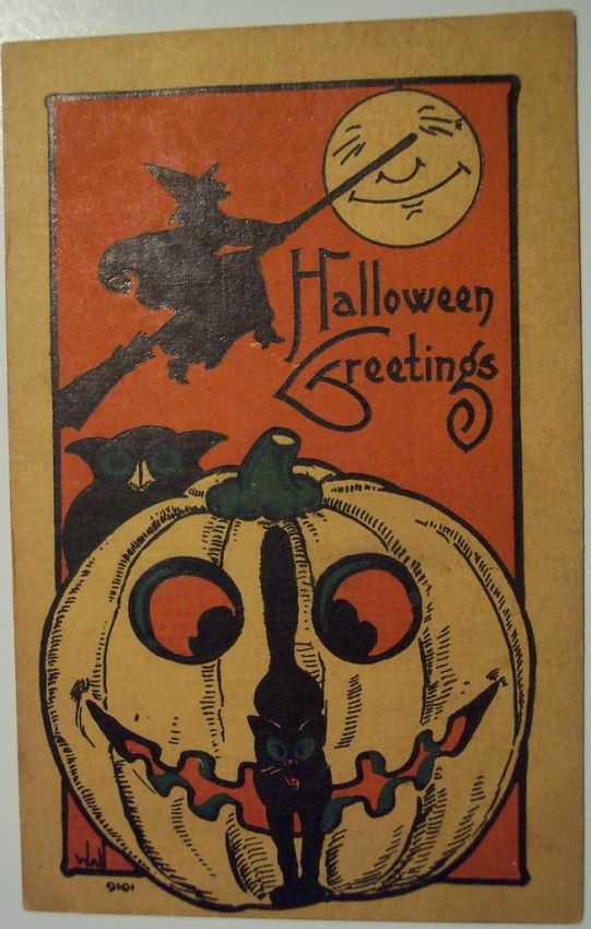 Ilustraciones vintage Halloween 026