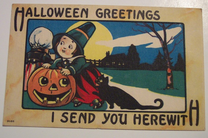 Ilustraciones vintage Halloween 027