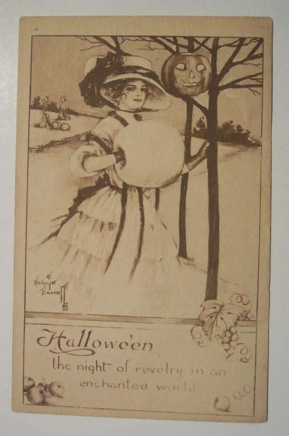 Ilustraciones vintage Halloween 033