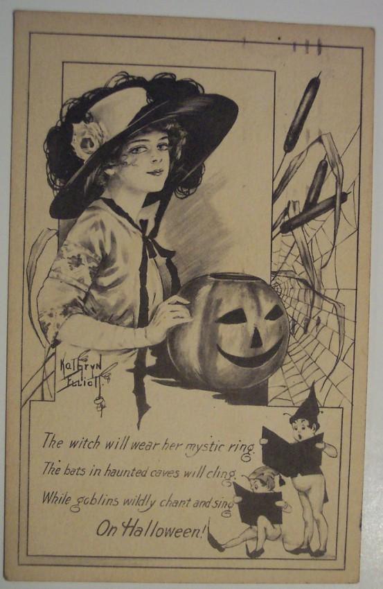 Ilustraciones vintage Halloween 034