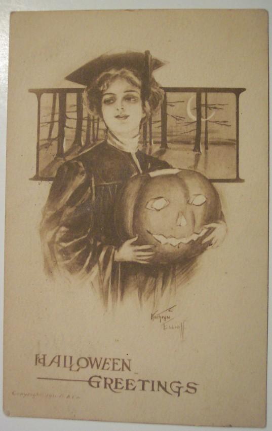 Ilustraciones vintage Halloween 035