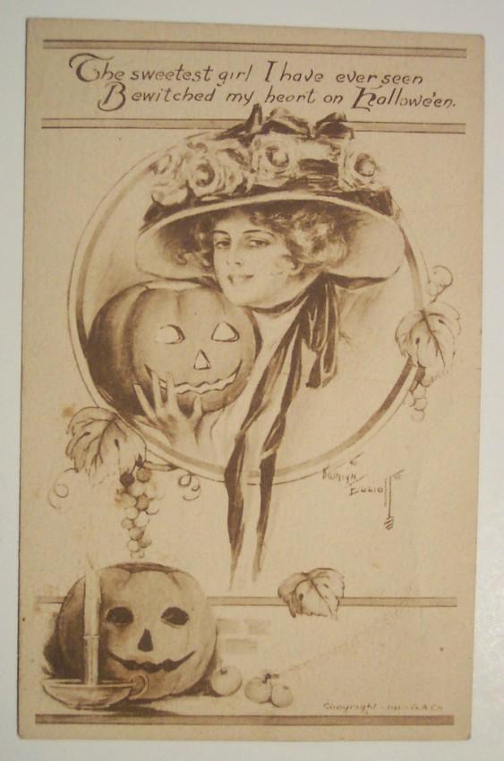 Ilustraciones vintage Halloween 036