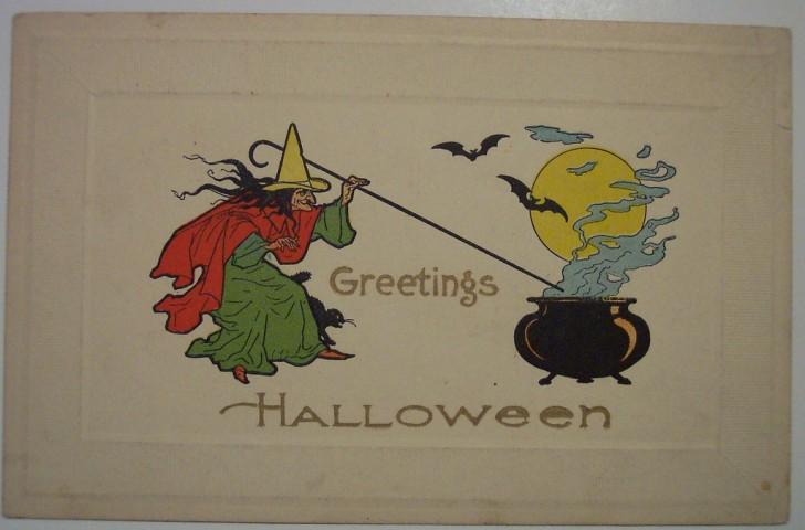 Ilustraciones vintage Halloween 045