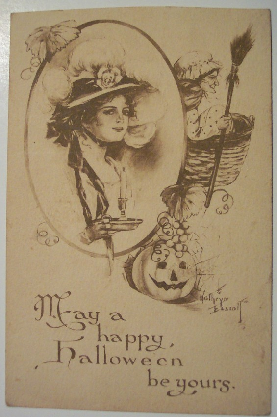 Ilustraciones vintage Halloween 046