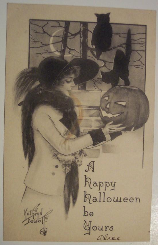 Ilustraciones vintage Halloween 047