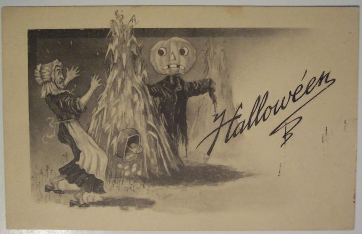 Ilustraciones vintage Halloween 049
