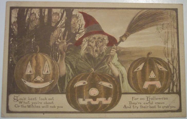 Ilustraciones vintage Halloween 050