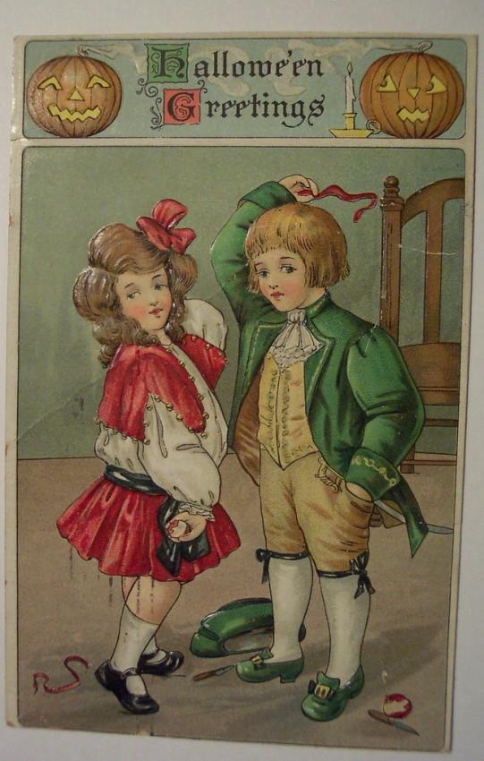 Ilustraciones vintage Halloween 054