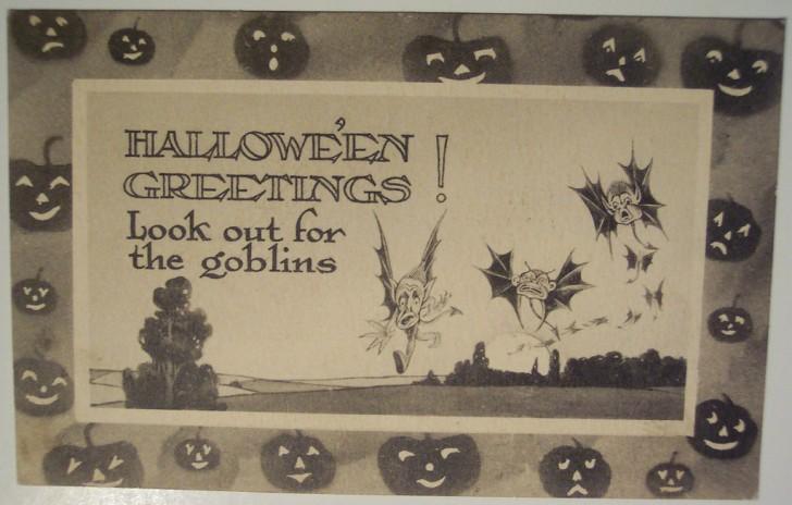 Ilustraciones vintage Halloween 060