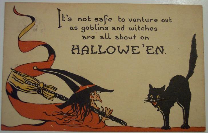Ilustraciones vintage Halloween 061