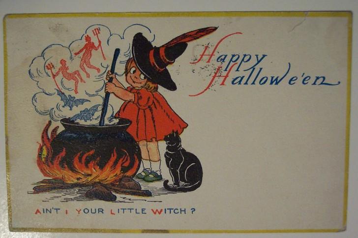 Ilustraciones vintage Halloween 066