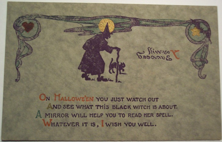 Ilustraciones vintage Halloween 068