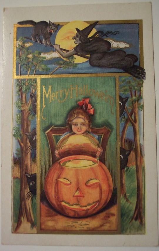 Ilustraciones vintage Halloween 089