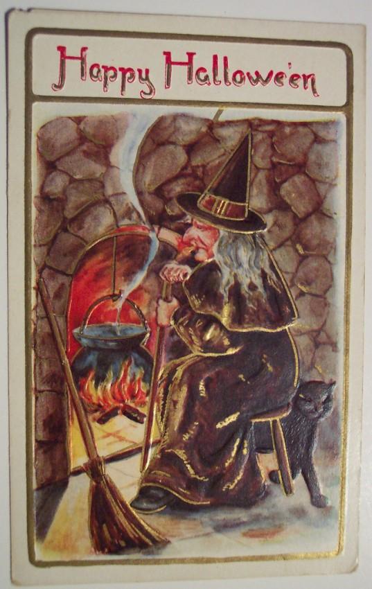 Ilustraciones vintage Halloween 095