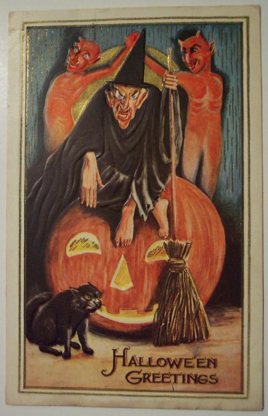 Ilustraciones vintage Halloween 097