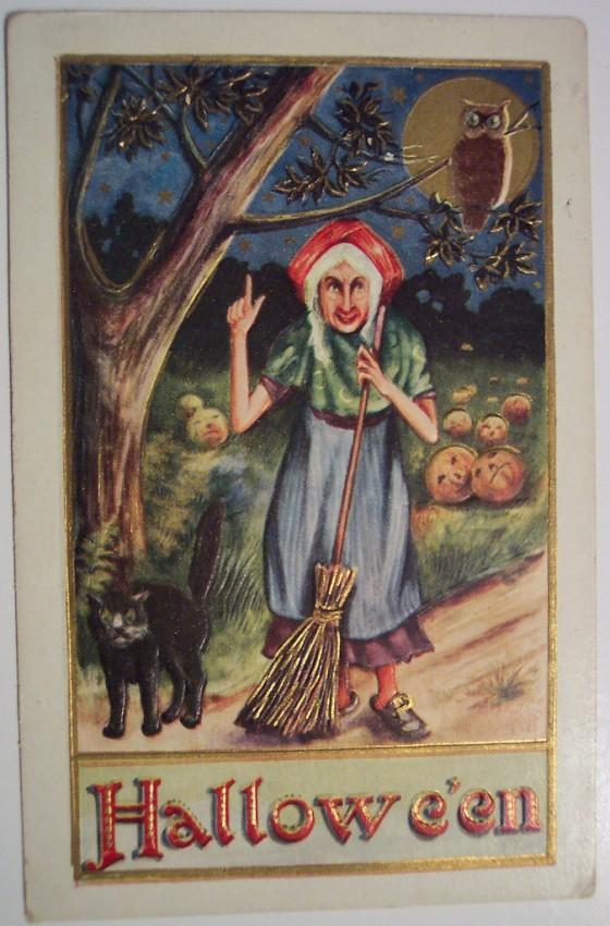 Ilustraciones vintage Halloween 099