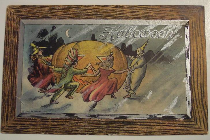 Postal Halloween retro 002