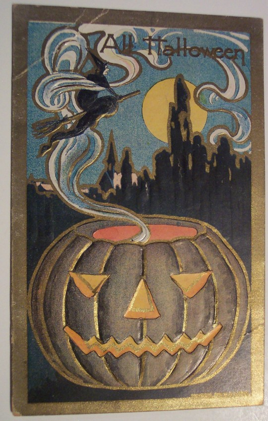 Postal Halloween retro 005
