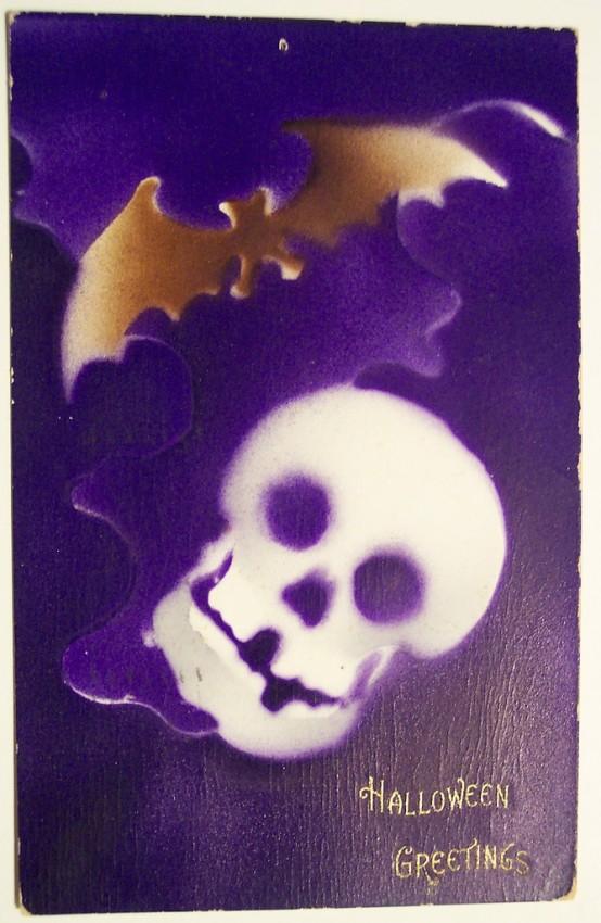 Postal Halloween retro 007