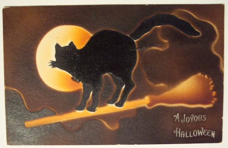 Postal Halloween retro 008