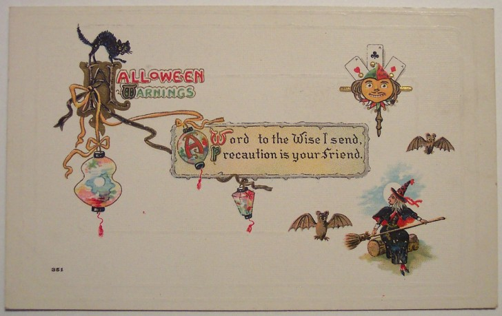 Postal Halloween retro 011