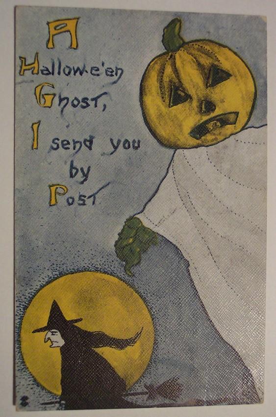 Postal Halloween retro 012