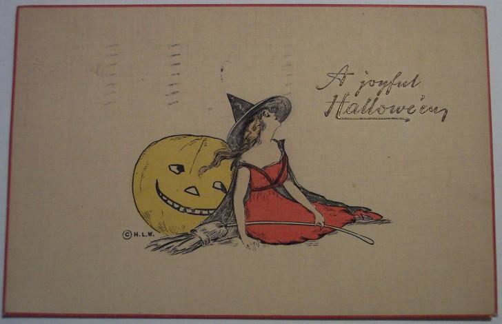 Postal Halloween retro 015
