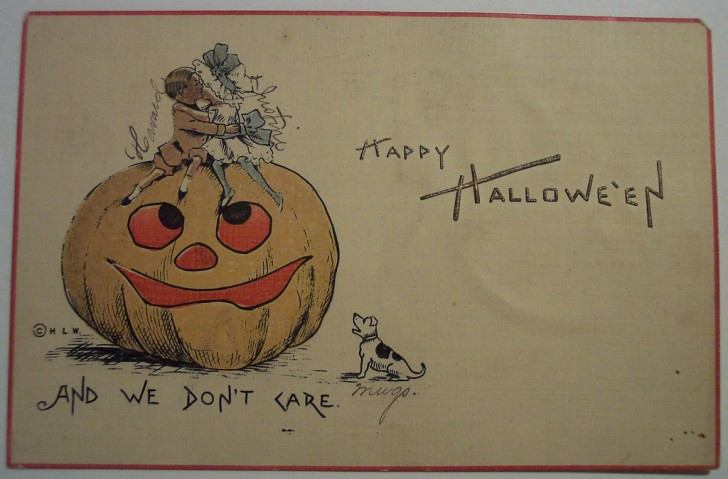 Postal Halloween retro 016