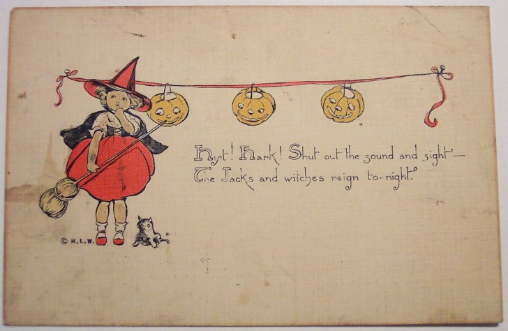 Postal Halloween retro 017
