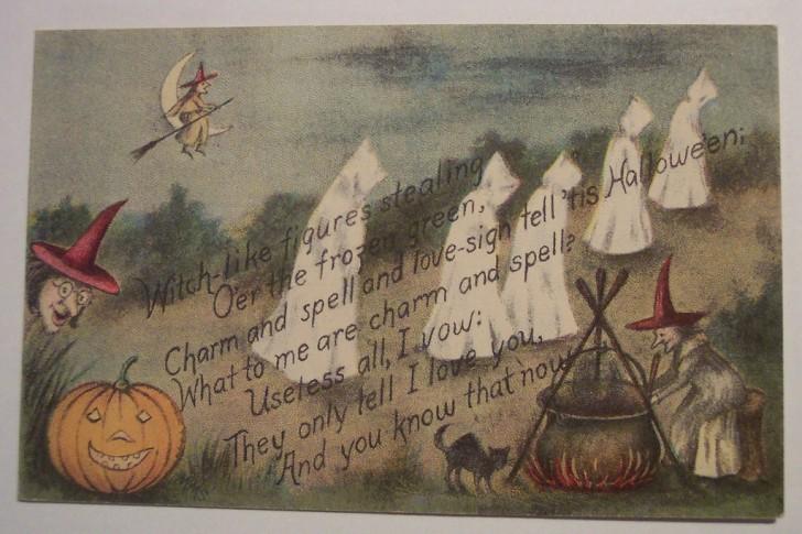 Postal Halloween retro 019