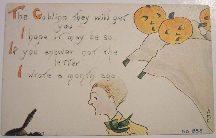 Postal Halloween retro 021