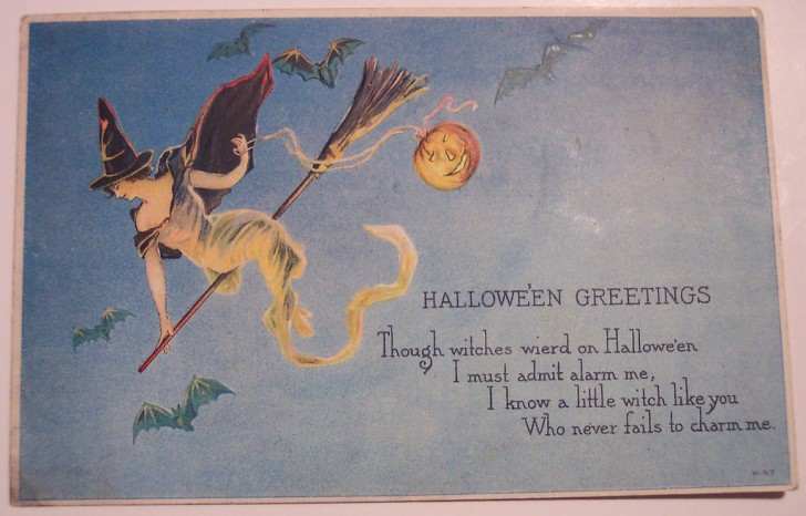 Postal Halloween retro 023