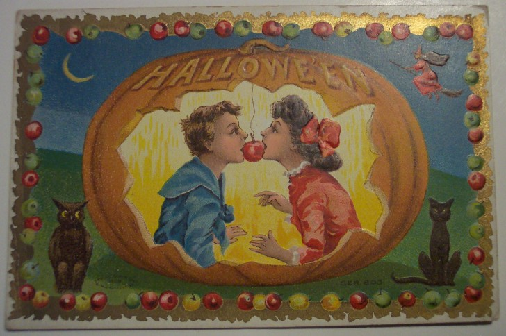 Postal Halloween retro 024