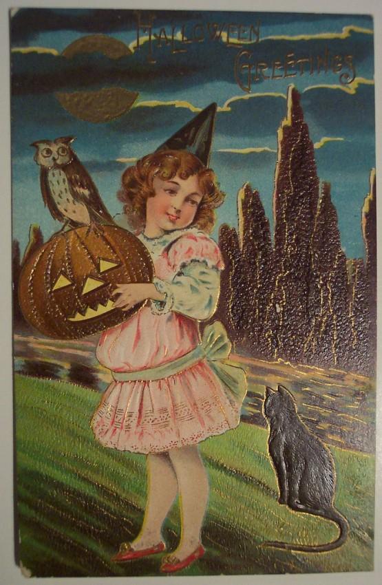 Postal Halloween retro 025