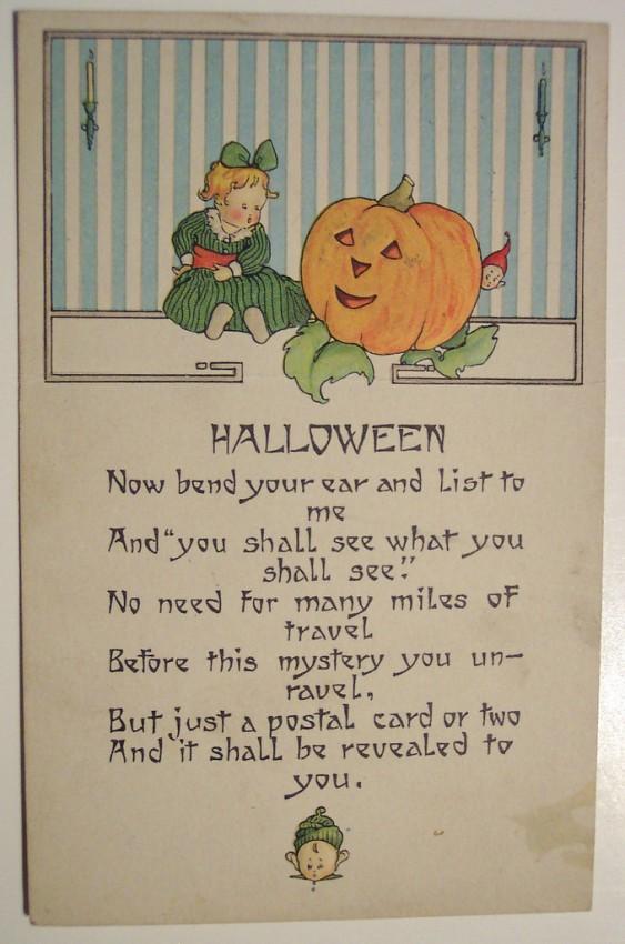 Postal Halloween retro 026