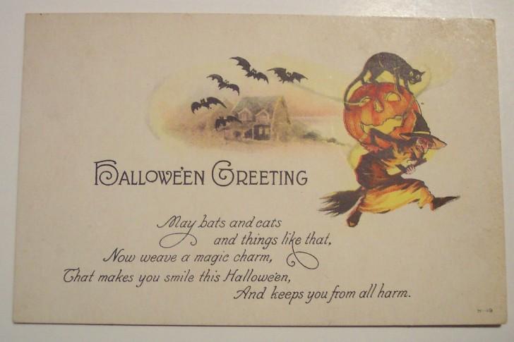 Postal Halloween retro 027