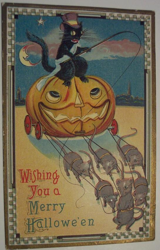 Postal Halloween retro 028