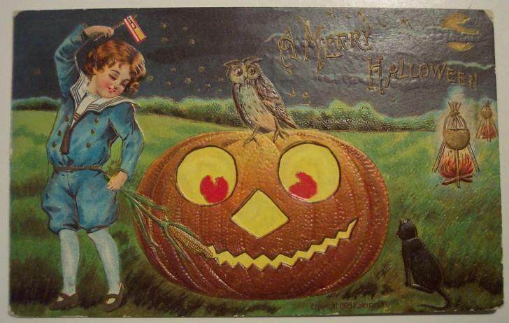 Postal Halloween retro 030