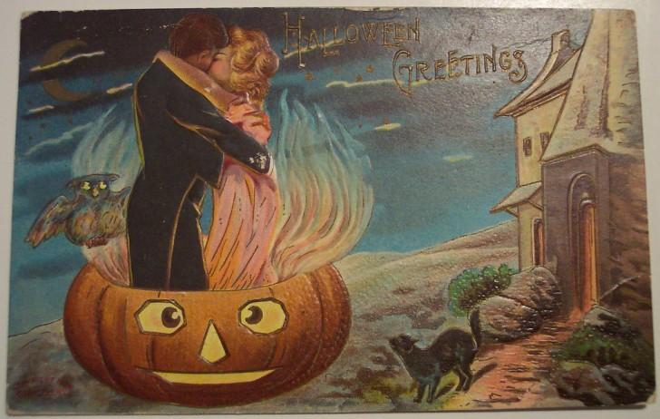 Postal Halloween retro 031