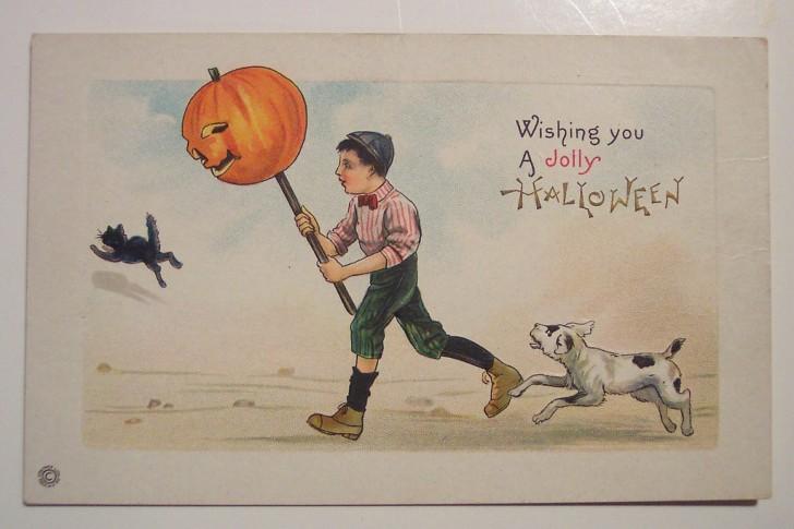 Postal Halloween retro 033