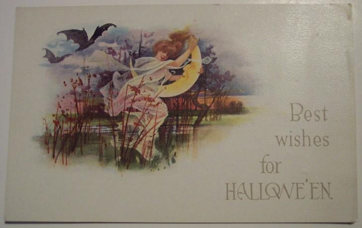Postal Halloween retro 034