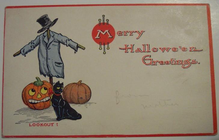Postal Halloween retro 035